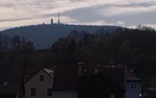 Waldpanorama mit Bergblick